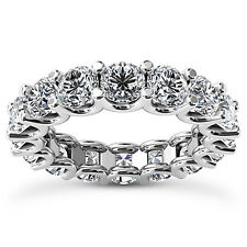 1.02 CT ROUND CUT REAL DIAMOND ETERNITY ANNIVERSARY RING D/SI1 14K WHITE GOLD