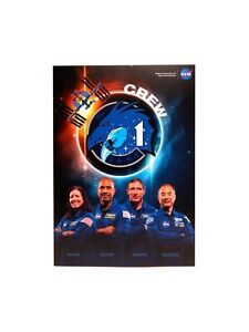 SpaceX Crew-1 A4-size postcards with First Day cancellation 16 November 2020 USA