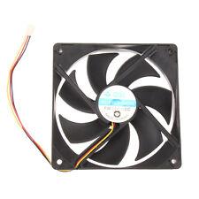 120mm 120x25mm 12V 3Pin DC Brushless PC Computer Case Cooling Cooler Fan Black