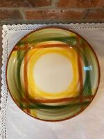 "Vintage Vernon Kilns Homespun 12"" Round Serving Platter - Excellent Condition!"