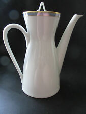 "Rosenthal Gala Blue CLASSIC ROSE Coffee Pot & Lid 4 Cup 8 1/8"" Loewy Mid-Century"