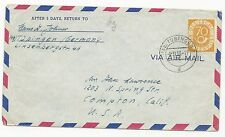 Germany Scott #683 on Air Mail Cover 1953 to California, US