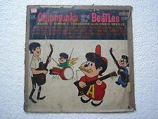 THE BEATLES THE CHIPMUNKS SING THE BEATLES HITS  RARE LP record vinyl INDIA VG