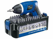DRAPER STORM FORCE CORDLESS LI-ION SCREWDRIVER BUNDLE INC 50BITS BATTERY&CHARGER