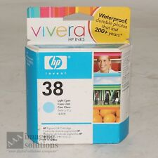HP 38 Light Cyan Ink Cartridge Vivera For B9180 & B8850 Printers P/N C9418A