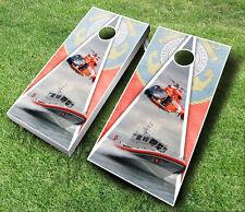 Us Coast Guard Cornhole Wraps Boards Set Bean Bag Toss + 8 Aca Regulation Bags