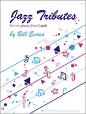 """""""Jazz Tributes"""" For One Piano-Four Hands-Music Book-Brand New On Sale-Songbook!"""