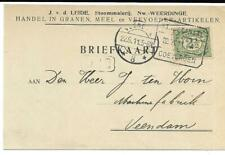 Treinblokstempel  Stadskanaal - Coevorden A Firmakaart Nieuw-Weerdinge 1911