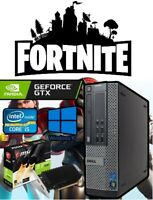 Fast Dell Gaming Computer PC Quad Core i5 8GB 3TB Nvidia GT1030 Win 10 HDMI WiFi