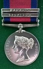 Military General Service Medal 2 Clasp Talavera  Copy