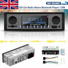 Classic Bluetooth Retro Car Stereo Audio Radio MP3 Player USB AUX SD FM DC 12V