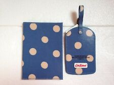 CATH KIDSTON PASSPORT HOLDER AND LUGGAGE TAG-BUTTON SPOT BLUE