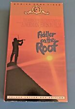 Fiddler on the Roof (VHS, 2-Tape Set) Deluxe Letter Box Edition Musical