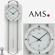 Ams 5263 Wall Clock Pendulum Clock Rc Silver Living Room Clock Radio Controlled
