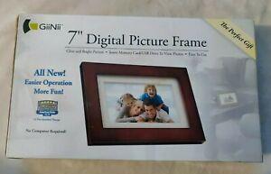 Giinii 7″ Digital Picture Frames BROWN GP7AWP1- NEW!!