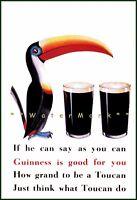 Guinness Irish Beer Flying Toucans Advertising Art Print Poster Pub Bar Ireland