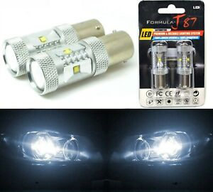 LED Light 30W 1156 White 5000K Two Bulbs Rear Turn Signal Replace Stock Upgrade