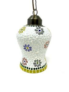 Mosaic Glass Ceiling Tiffany Style Lamp Pendant Multicolor Hand Made Art Glass