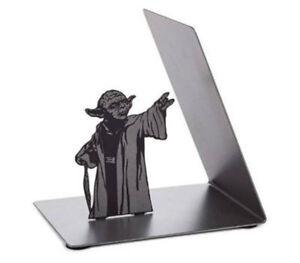 Star Wars Master Yoda Metal Bookrack Bookend Book Holders BookShelf Bracket Gift