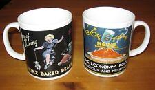 Two Heinz Baked Beans - The Joy Of Living  -  Mugs - Rare