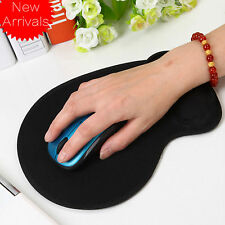 Small Size Black Anti-Slip Mouse Pad Mat with Gel Wrist Support for PC Laptop