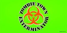 Wholesale Lot 6 Zombie Town Exterminator Bio-hazard Green Decal Bumper Sticker