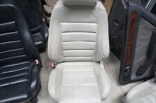 00-02 Audi B5 A4 S4 OEM Driver Side Seat Left White Leather Decent Condition