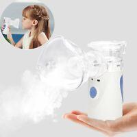 Mini Tragbar Inhalator Vernebler Nano Inhalationsgerät Set für Erwachsene Kinder
