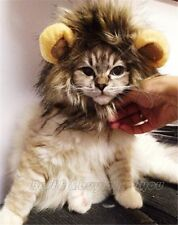Chat LION crinière Perruque Costume Robe pet up Vêtements Costume Halloween Mignon Drôle