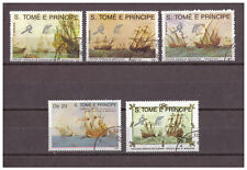 Sao Tomé und Principe, (Segel-)Schiffe MiNr. 1129 - 1133, 1989 used