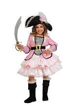 Girls Pirate Princess Costume Kids Pink Caribbean Pirate Size Small 4-6
