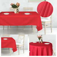 Red Table Cloth Tablecloth Decor Rectangular Round Dinner Party Home Decor