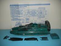 1984 GI Joe Cobra Water Moccasin Jet Speed Boat w/ Blueprints *Complete BROKEN*