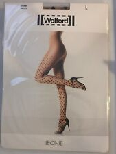 Wolford Leonie Tights Size: Small Color: Sahara/Black 14460 - 08