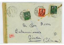 Italy  To Switzerland  Repubblica Sociale Italiana  Red Cross Censored WWII 1944