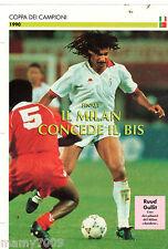 SCHEDA DE AGOSTINI=MILAN-BENFICA 1-0 1990=FINALE COPPA DEI CAMPIONI