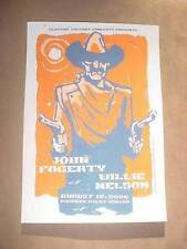 JOHN FOGERTY CREEDENCE CLEARWATER REVIVAL WILLIE NELSON SILKSCREEN POSTER AC '06