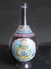 Raro Antico Vaso in rame cloisonné cinese