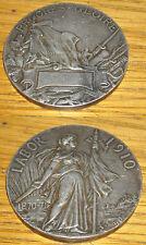 MEDAGLIA PROGRES GLOIRE LABOR 1910 HONNEUR ET PATRIE BRONZE