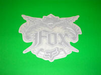 FOX RACING MOTOCROSS ATV QUAD SKATEBOARD BMX SILVER CARPE DIEM STICKER DECAL