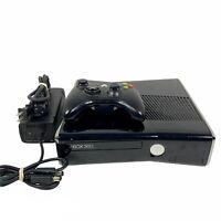 Microsoft Xbox 360 S Slim Console Black w/ 250GB HD Controller & AC Cable Tested