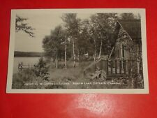 ZH202 Vintage RPPC Remick's Wilderness Lodge Arrow Lake Ontario Canada