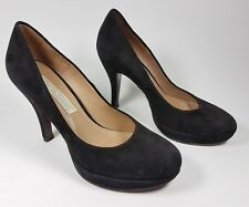 Pied a Terre handcrafted black suede leather high heel shoes uk  3 eu 36