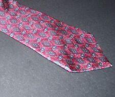 "Buckingham Men's Suit Neck Tie 100% Silk 4""W 56""L Short Red Pink Blue Geometric"
