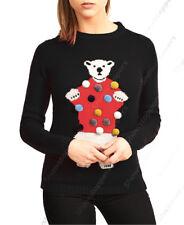 NUEVO de mujer jersey Navidad Top 3d forro polar rojo talla 10 12 14 16