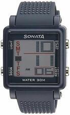 Sonata Super Fibre Digital Grey Small Dial Men's Watch -NL77043PP02