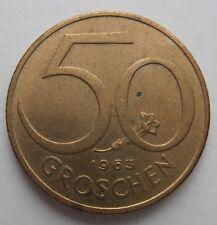 AUSTRIA 50 GROSCHEN 1963