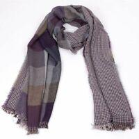 Winter Tassel Lange Männer Warm Design Plaid Tartan Baumwolle Schal