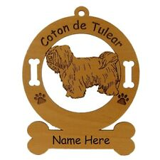 Coton de Tulear Standing #2 Dog Ornament Personalized With Your Dogs Name 3013
