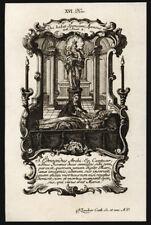santino incisione 1700 S.EDMONDO RICH ARC. DI CANTERBURY   klauber